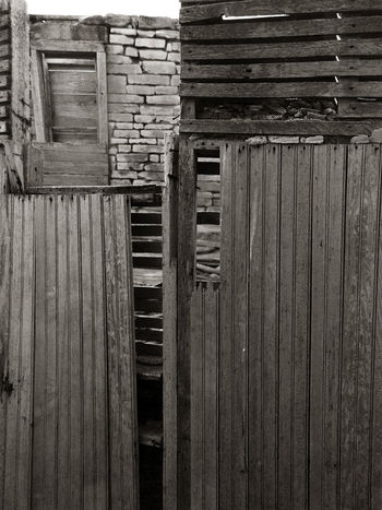 Parallel World Fallen Down Abandoned Bad Condition Black And White Deterioration Graphic Composition Kansas Monochrome No People Obsolete Old Pattern Plank Stone House Textured  Wall Wood Wood - Material Wooden