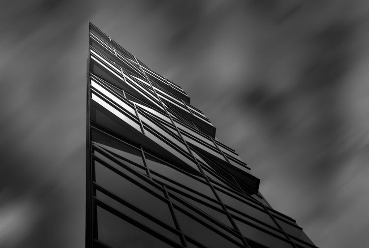 City Architecture Black And White Building Exterior Built Structure Close-up Clouds Day Low Angle View Modern Monochrome No People Outdoors Sky Urban