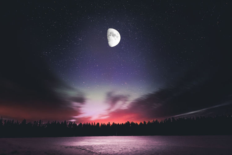 Dreamscape Sky Night Beauty In Nature Astronomy Moon Tranquil Scene Tranquility Star - Space Nature No People Outdoors Explore Dream Winter Illuminated Landscape Photography Atmospheric Mood Cloud - Sky Freshness Eye4photography  Check This Out Hello World Art Backgrounds