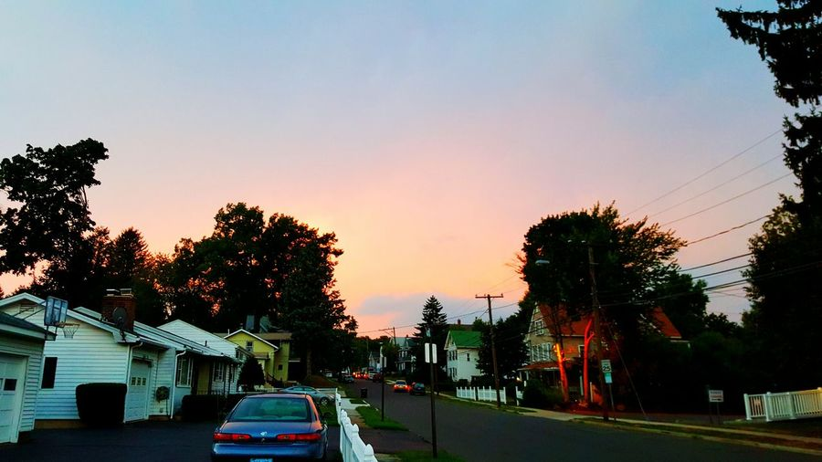 Evening walk with my pup. Burning Sky Taking Photos Night Colorz~ Enjoying The View City View
