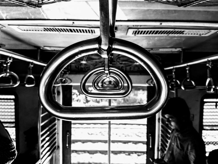 These handles carry the load of millions travel in mumbai every day! Transportation Mode Of Transport Indoors  Day No People Close-up Mumbailocaltrain Mumbailocal Localtrain Blackandwhite Handles Be. Ready. Black And White Friday Mobility In Mega Cities The Traveler - 2018 EyeEm Awards