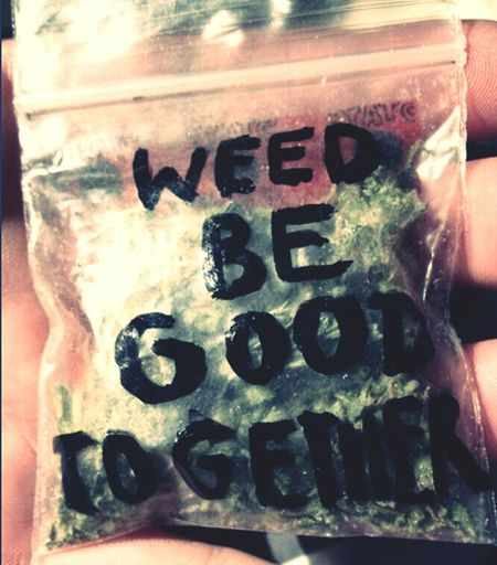 #love, #together,#couple,#weed