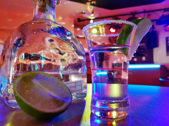 Tequila Shots Tequila Time Tequilaaaa❤ Alcohol Drink Shot Glass Nightclub Bar - Drink Establishment SLICE Table Tequila - Drink Hard Liquor