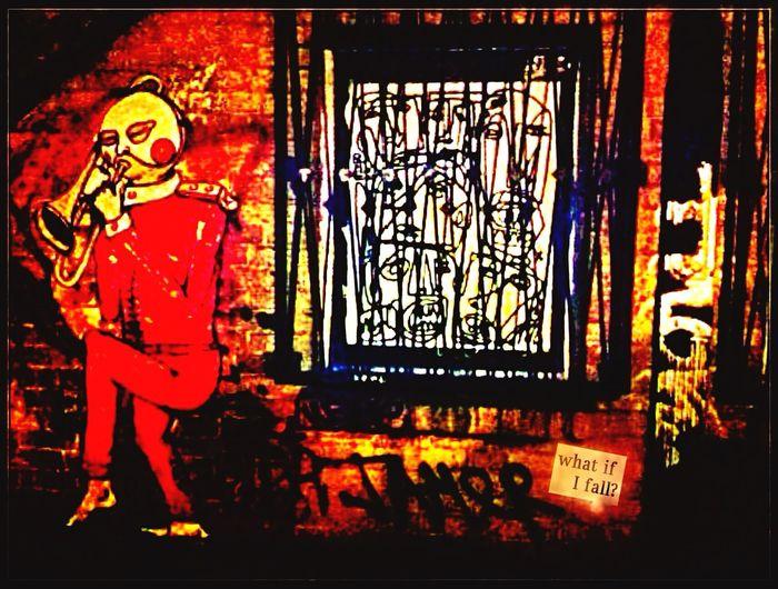 """ What If I Fall ?"" Graffiti | Streetphotography | Streetart / Street Art / Berlin Streetart | My Fuckin Berlin @ Dircksenstraße / Ecke Rochstraße ➡️Dircksenstraße 128-130, 10178 Berlin http://goo.gl/maps/AXOCx"