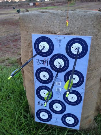 Last round did another three x's! My bow is all sighted in n ready for the competition!