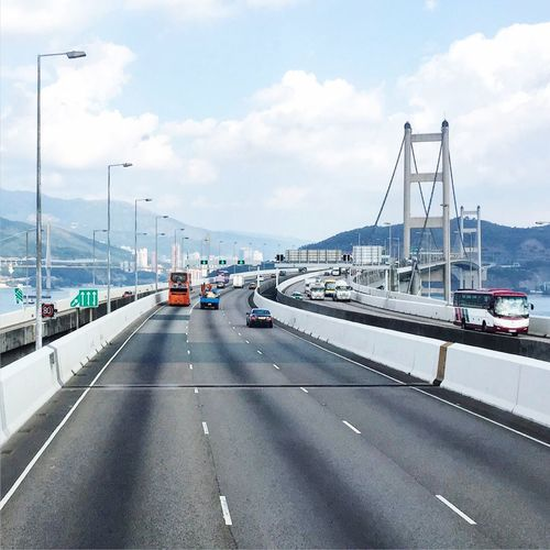 Tsuen Wan Bridge - on my way from HKG Chek Lap Kok Airport by A21 Bus to the downtown of Kowloon City
