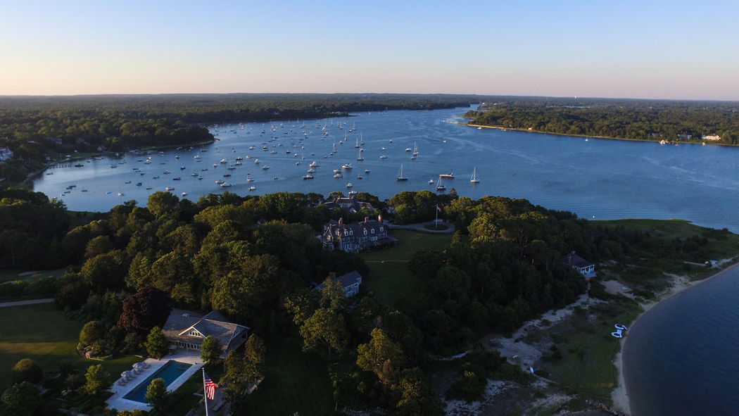 Aerial View Architecture Bay Beach Front Beauty In Nature Building Exterior Built Structure Cape Cod Clear Sky Day High Angle View Horizon Over Water Landscape Massachusetts Nature New England  No People Outdoors Saltwater Scenics Sea Sky Tranquility Tree Water