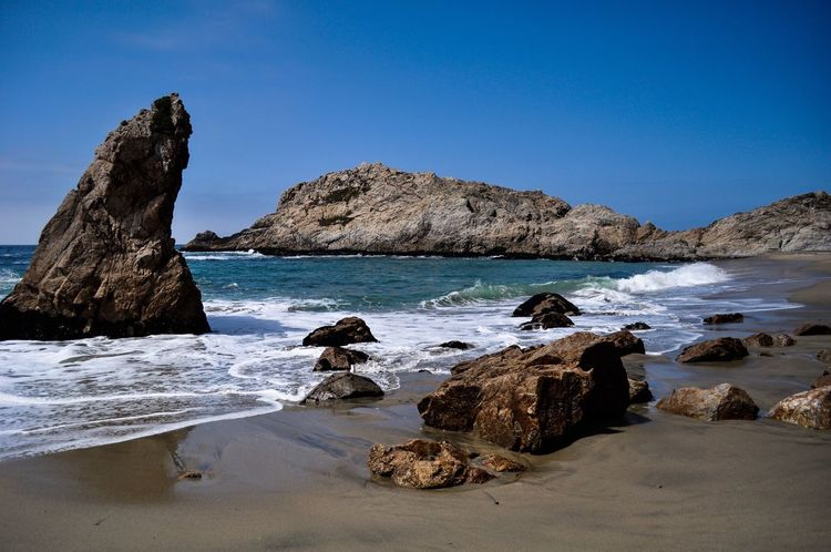 Sea Scenics Nature Beach Rock - Object Tranquility Beauty In Nature Water Clear Sky Rock Formation Tranquil Scene Idyllic No People Rock Horizon Over Water Outdoors Sand Day Sky Point Reyes National Seashore California Dreaming California Been There.