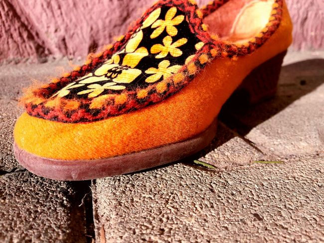 Shoe Close-up No People Day Orange Color Outdoors