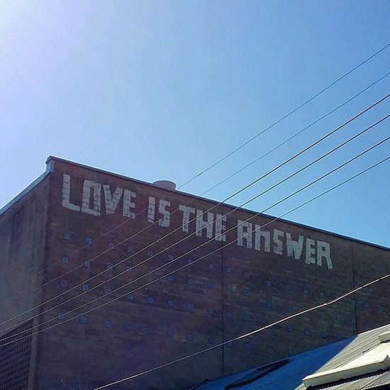 Just a friendly reminder, courtesy of the Inner West Love Camperdown Sunday Loveistheanswer Sydney Ilovesydney