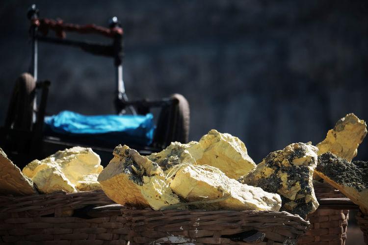 INDONESIA Science Basket Chemical Kawah Ijen Mine Nature Sulfer Valcano
