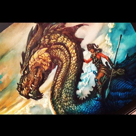 """Rak Ruval"" Dragon Oil Canvas Ciruelo painting"