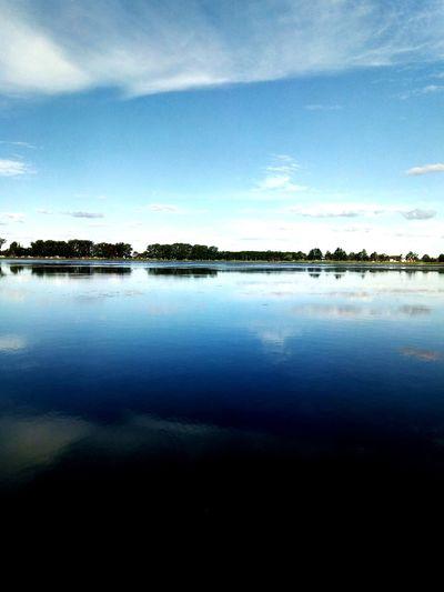 Water Sea Reflection Sky Horizon Over Water Cloud - Sky