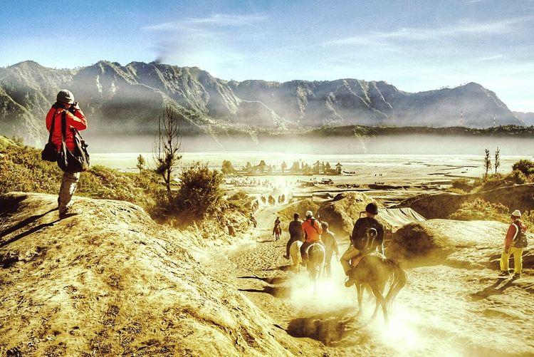 A scene in Mount Bromo, Indonesia