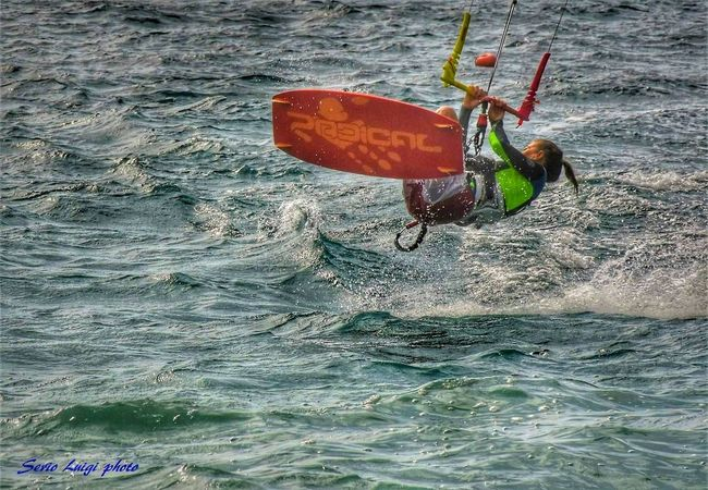 Kitesurfing Sport Surf Water Sea Beach Waterfront
