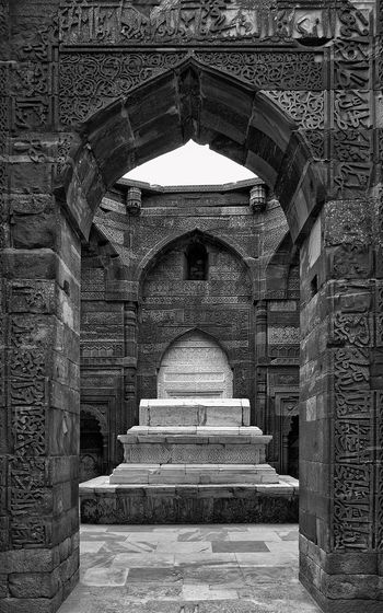 This image is part of my ongoing project covering the last resting places of Delhi Sultanate. Delhi Sultanate Delhi Sultanate Tomb Tomb, Monochrome Travel Grave City Architecture Built Structure Historic