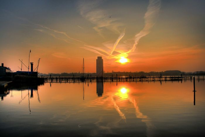 Taking Photos Hafen Sky Mirror Picture Schleswig Schlei Sun Sundown Landscape_photography