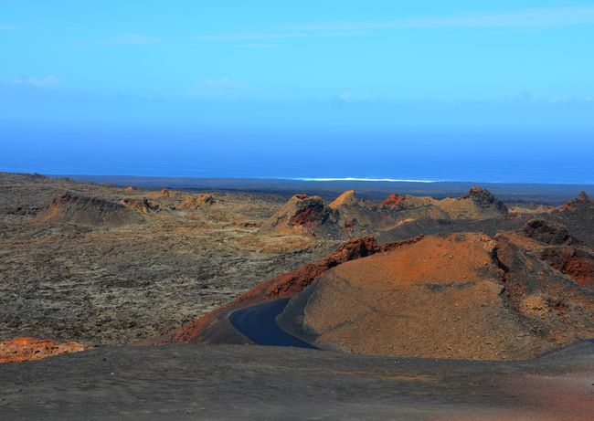 Canarias Craters Horizon Over Water Landscape Lanzarote Island No People Scenics Sky Timanfaya Tranquility Volcanic Island Volcanic Landscape