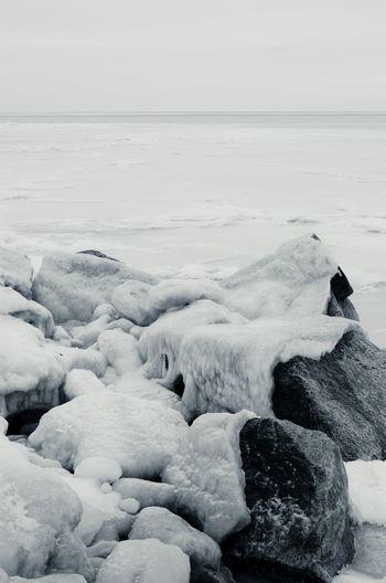 Winter Azovsea Azov Sea Sea Seascape Wintertime Ice Climate Climate Change Rock - Object Stones Blackandwhite Black And White Cold Temperature Cold Days Cold Weather Cold Monochrome Photography