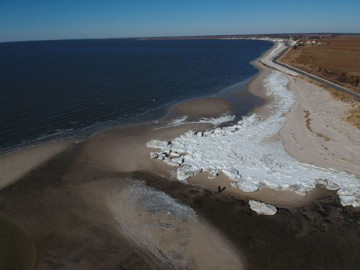Aerial views of the beach at Fortescue NJ. Pack ice made for some interesting patterns. Very cold day. with just a bit of wind and used DJI Spark. Drone  EyeEm Best Edits EyeEm Best Shots EyeEm Nature Lover EyeEm Selects Natural Pattern New Jersey Wintertime Beach Cold Temperature Day Dji Dji Spark Dronephotography Garden State Geometric Shape Nature New Jersey Photography Nj Njphotographer No People Pack Ice Repeating Patterns Waves Wind And Waves Shades Of Winter