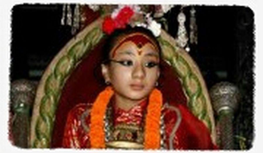 Living Godess Kumari Of Nepal