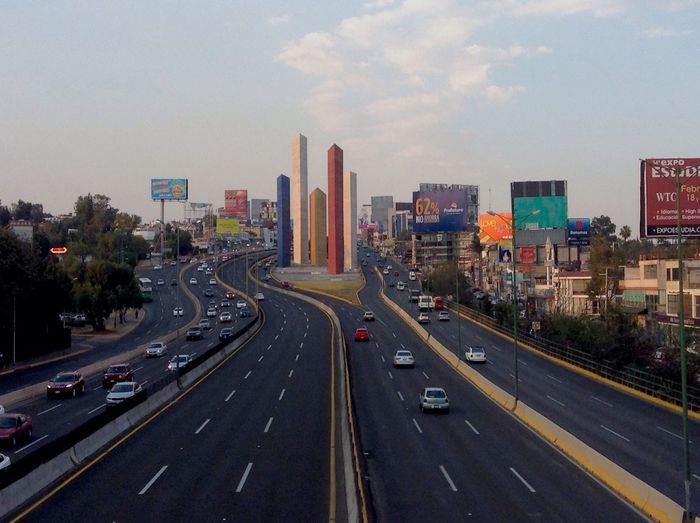 City Traffic Monument Cdmx Highway Fast Cars Stress