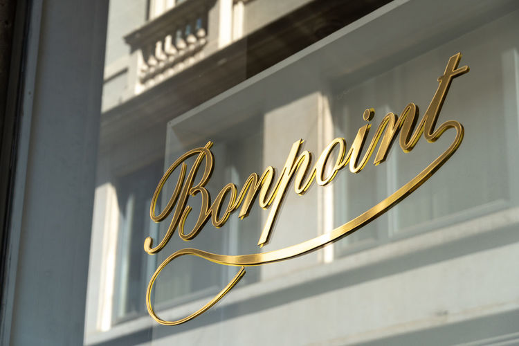 Bonpoint store exterior. French couture house for children providing dresses, jackets and shoes for girls and boys Boutique Clothes Store Couture Fashion Shopping Shopping ♡ Signage Bonpoint Brand Business Close-up Clothes Shop Clothes Shopping Clothing Shop Clothing Store Influencer No People Retail  Retail  Shop Shopaholic Shopping Mall Shopping Time Sign Store