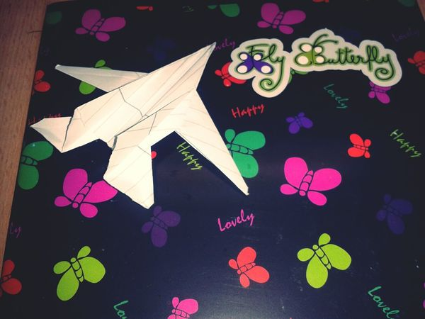 One of my new classmates makes that little airplane today. :) <3