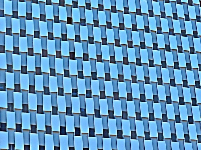 Crazy Windows Abstract Architecture Backgrounds Blue Building Built Structure Checkered Close-up Day Design Full Frame Low Angle View Modern No People Office Building Outdoors Pattern Pattern Design Pattern, Texture, Shape And Form Patterns Patterns & Textures Repetition Shapes Side By Side Windows
