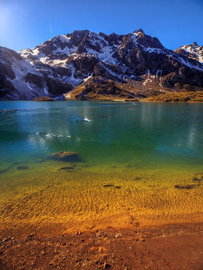 The lago del valle in spain has a glacial origin, and is surrounded by the walls of the cirque.