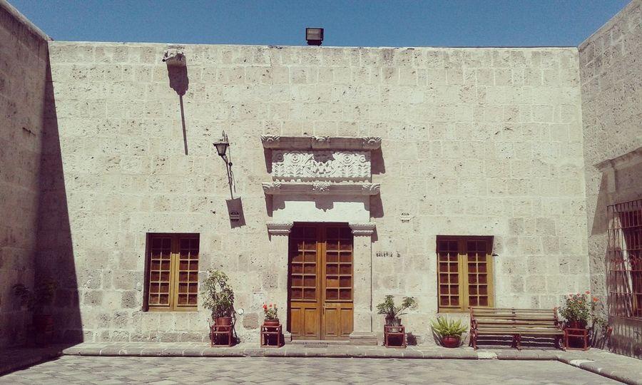 Architecture Colonial Architecture Arequipa - Peru Peru Beautiful Sillar Sky Blue Flowers