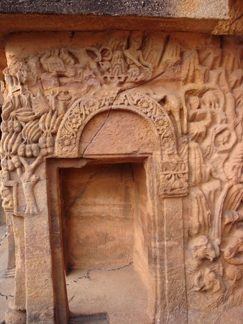 Beautiful Sand stone carvings depicting the lifestyle of past. Ancient Ancient Civilization Architecture Art And Craft Belief Building Exterior Built Structure Carving - Craft Product Craft Creativity Day History Human Representation Outdoors Place Of Worship Religion Representation Sculpture The Past Travel Destinations