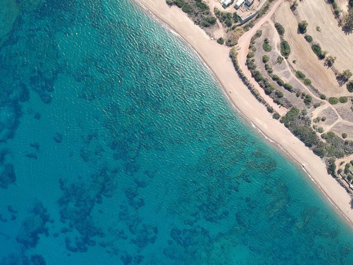 from above.. cyprus is a great island for photography. This photo is above turtle beach next to akamas in Cyprus