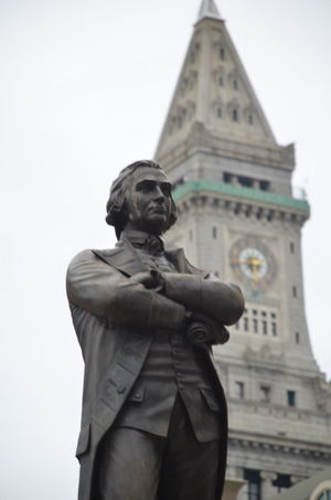 Architecture Boston Building Exterior Built Structure City Day Low Angle View No People Outdoors Samuel Adams Sculpture Sky Statue Tourism