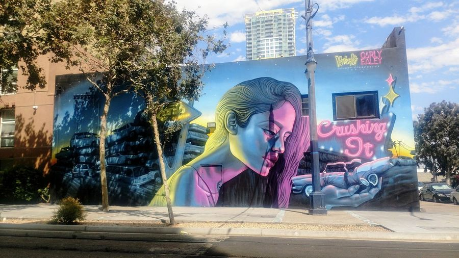 Just one of those nomadic days. Outdoorswalk everywhere. San Diego Downtown Lifestyles Graffiti Street Art Crushing It