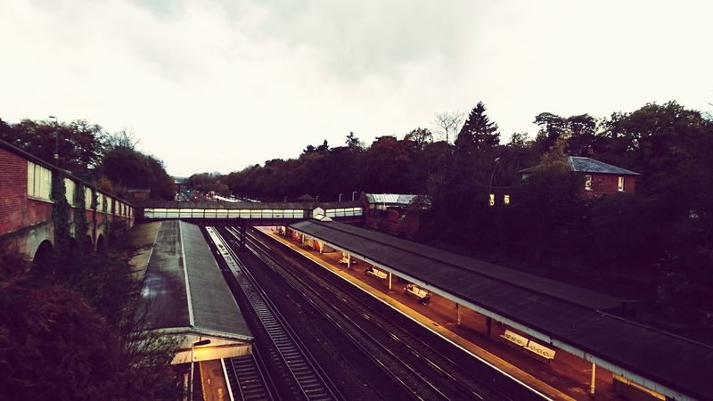 On the way home Train Station Train Tracks