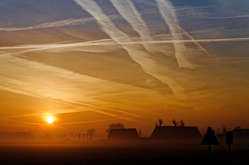 Sunset sunrise Sky Beauty In Nature Landscape Outdoors Day No People Contrail Sunlight Silhouette Tranquility Sun Sand Scenics Tranquil Scene Sunrise First Eyeem Photo