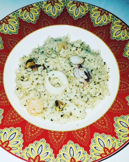 Ризотто морепродукты ужин