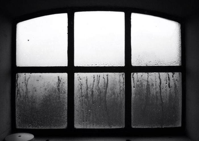 Blackandwhite Window Steam Dew