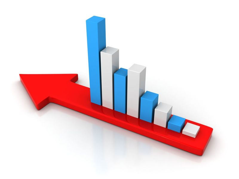 graph and charts Arrow Finans Graphs Increase Shapes Bar Diagram Blue Businees Chart Creativity Design Education Graphs High Angle View Indoors  Lose No People Red Shape Still Life Studio Shot Success Three Dimensional Toy White Background White Color