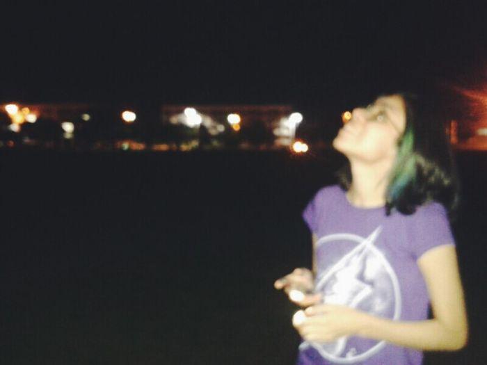 Selfportrait Dyed Hair Nightphotography Night Lights