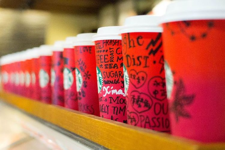 Merryxmas Merry Christmas Starbuckscoffee Starbucks 星巴克 紙杯 咖啡館 咖啡 Coffee 耶誕節