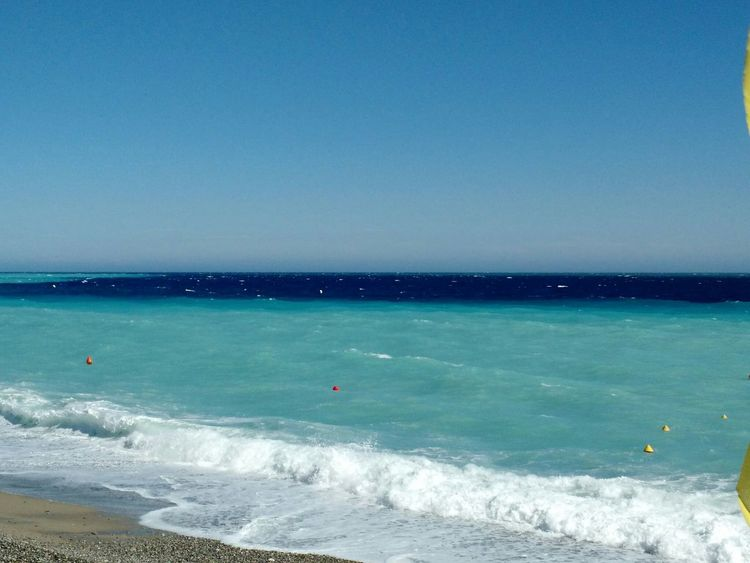 Sea Beach Blue Horizon Over Water Water Sky Beauty In Nature Scenics Nature Sea Foam On The Beach Sea Foam Green Blue Sea Tranquil Scene Nice, France Nizza Francia Côte D'Azur Sea And Sky Frothiness Sand Outdoors Wave Day No People
