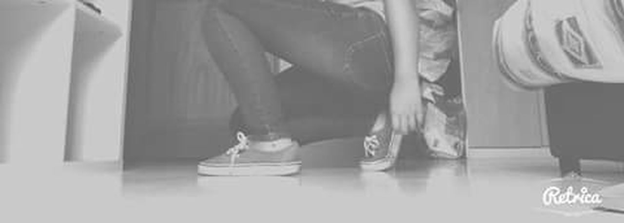 Human Leg Blackandwhite Shoes Vans Girl France Young Girl Standing Shoe Day