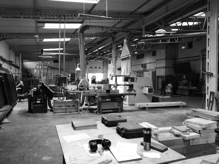 first eyeem photo EyeEmNewHere Blackandwhite In Work Factory Industry Smartphonephotography AI Now Business Stories