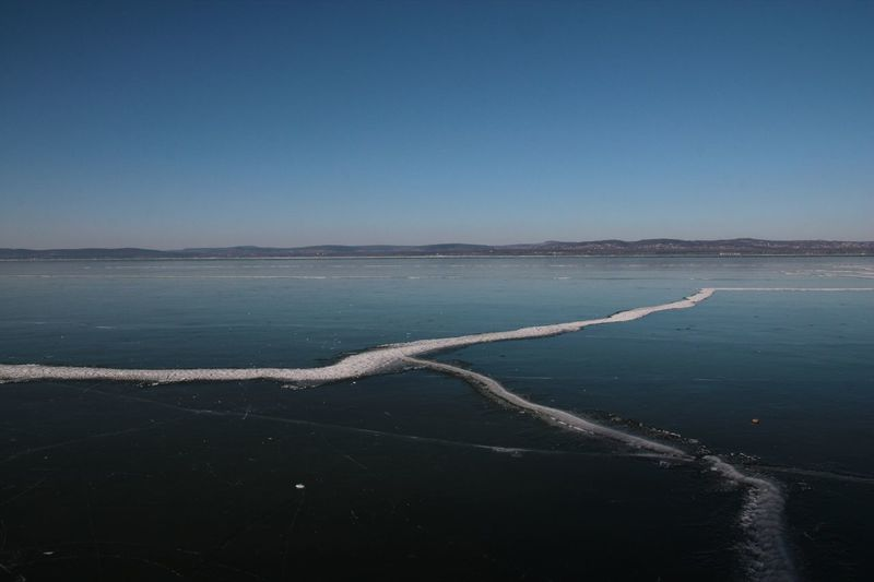 Balaton - Hungary Ice Winter Beauty In Nature Blue Clear Sky Day Nature No People Outdoors Sky Water Been There.