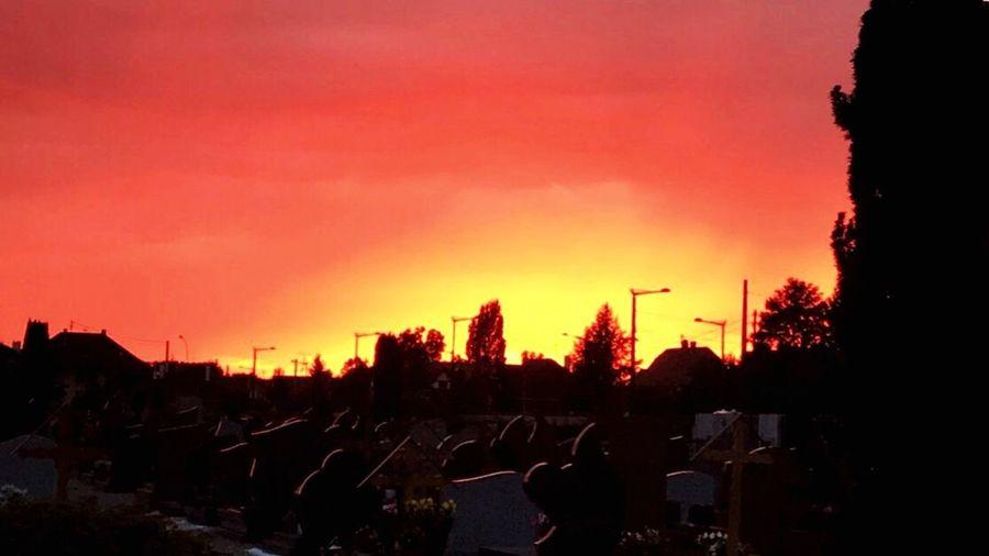 Sky Fire🔥 Sunset Night Orange Color Graveyard Restinpeace Theskyisonfire Explosion Colormixes Nature
