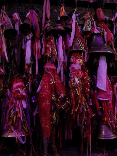 Atmosphere Hindu Light Nepal Pink Sparkle Bells Celebration Culture Dashain Hindu Temple Light And Dark Spaces Night Rituals