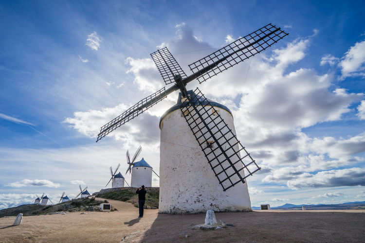Consuegra, Spain Alternative Energy Cloud - Sky Day Environment Environmental Conservation Field Fuel And Power Generation Land Landscape Nature Outdoors Renewable Energy Rural Scene Sky Technology Traditional Windmill Turbine Water Wind Power Wind Turbine