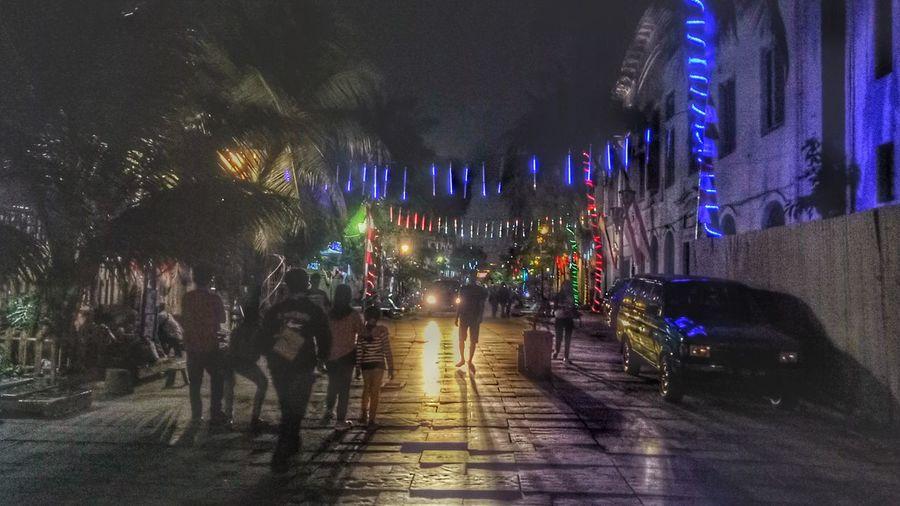 Night Celebration The Way Forward Illuminated Outdoors People City Cityscape Streetphotography Nightphotography Nightlife Nightshot Street Life Old Town Old Buildings Kota Tua Jakarta Kotatuajakarta Jakartastreetphotography Jakarta Light And Dark Lights